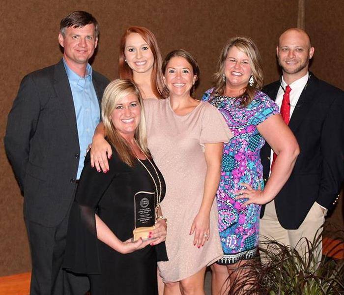 Our SERVPRO team with The Professional of the Year 2015